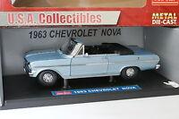 Sun Star 1/18 - Chevrolet Nova 1963 Bleue