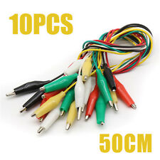 10 Electric Double Ended Alligator Crocodile Clips Test Lead Jumper Wires Cable