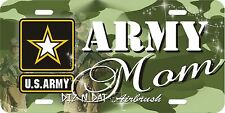 Camo Army MOM airbrush license plate, car tag auto custom novelty