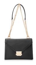 Michael Kors Black Whitney Large Leather Convertible Shoulder Bag Authentic