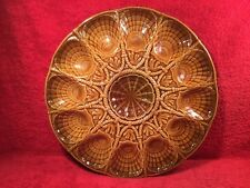 Large French Majolica Master Oyster Platter, op332 Gift Quality!