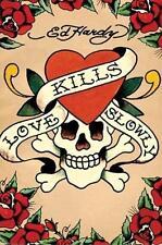 Ed Hardy: l'Amore uccide Lentamente-Maxi poster 61 CM x 91.5 cm Nuovo e Sigillato