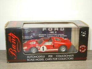 Ford GT MKII Roadster Sebring 66 - Bang 7094 - 1:43 in Box *52488