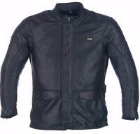 Richa Black Motorcycle Leather jacket - Highlander Ideal for Touring / Commuting