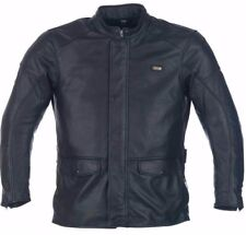 Richa Black Motorcycle Leather jacket - Highlander Ideal for Touring / Commuting