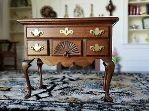 Dollhouse Miniature Artisan Roger Gutheil  Lowboy Signed 1:12