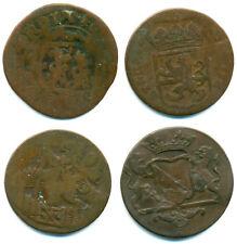 Niederlande, Lot v. 4 Münzen / 4 x Cu-Duit