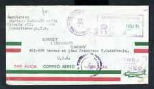 Guatemala - 1953 Registered Airmail Cover to San Francisco, USA