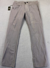 ZAK LOGO Mens GRAY STRAIGHT 5 POCKET 100% COTTON CHINO PANTS NEW 28 X 30