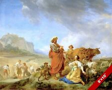 RUTH & BOAZ IN THE FIELDS PAINTING OLD TESTAMENT BIBLE ART REAL CANVAS PRINT