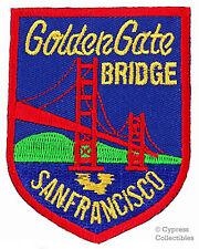 GOLDEN GATE BRIDGE embroidered iron-on patch SAN FRANCISCO SOUVENIR CALIFORNIA