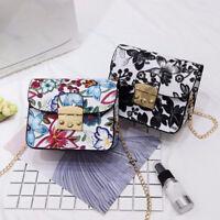 Exquisite Embroidery Flower Printing Handbag Women Shoulder Crossbody Bag Bag