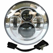 "7"" LED Projector Daymaker Chrome Headlight For Harley Street Glide Softail FLHX"