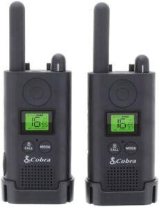 Cobra PU500 Pro Business Walkie Talkie Radio 8km Range Long Runtime 2 Pack Black