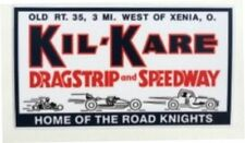 Kil-Kare Dragstrip--Xenia, OH-- Decal--NHRA-Muscle Car-Old School