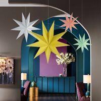 2pcs/set Christmas Ornaments 30cm 12 inch Hanging Paper Star Lantern Decor