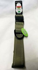 """KONG MAX Strongest DOG COLLAR Anti Chew Resistant GREEN Size L 18""""-26""""/1.5"""" Wide"""
