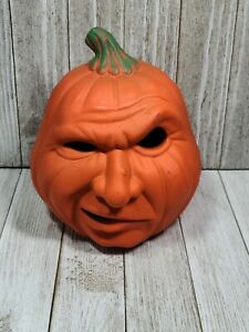 Vintage Halloween Pumpkin Anthropomorphic Jack O'Lantern Ceramic Candle Holder