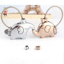 1 Pair Elephant Pendant Keychain Fr Lovers Couple Key Ring Nice Gift Trinket