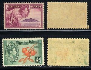 1940 PITCAIRN ISLANDS🏝️ 1d & 1/2D CHRISTIAN ON BOUNTY SG A1-2 MNH OG