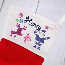Personalised Christmas Stocking -  Doodle Design