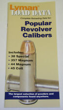 Lyman Load Data Manual Reloading Data book for Popular Revolver Calibers 9780006