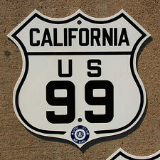California ACSC US route 99 highway road sign auto club AAA Los Angeles