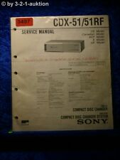 Sony Service Manual CDX 51 / 51RF CD Changer (#3497)