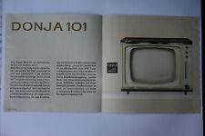 Sammlungsauflösung altes Prospekt RFT radio television Donja 101 !!!