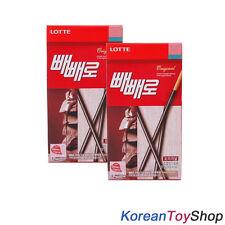 Korean Original Lotte Pepero 42g X 2 Pack Chocolate Stick Snack Biscuit M. Korea