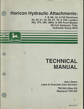 John Deere Horicon Hydraulic Attchments Technical Manual TM1593