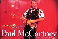 Paul McCartney Original 1990 Tripping The Live Fantastic Poster Collectible