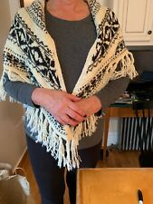NWT Polo Ralph lauren  shawl wrap wool blend with fringe 351