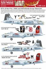 Kits-Boeing B-17G Flying Fortress 1/48 mundo Nose Art of the 91st, 100th y 381