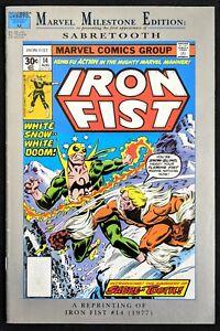 Iron Fist #14 Marvel Milestones Reprints 1st Sabretooth! Marvel 1992