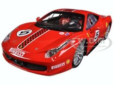 FERRARI 458 CHALLENGE #5 RED 1/24 DIECAST MODEL CAR BY BBURAGO 26302
