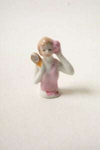 Strawberry Hair Pink Top Porcelain Half Doll (R3D-6) Pin Cushion No Holes