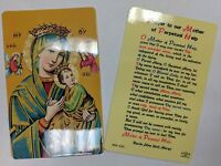 Laminated HOLY CARD OUR LADY OF PERPETUAL HELP