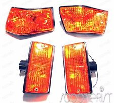 Vespa Front Rear Indicator Blinker Lamp Black Amber PX PE P STAR STELLA SPEEDY