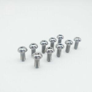 10Pcs Titanium Ti Water Bottle Cage M5x12mm Bolt Button Head Allen Key Screw