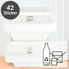 """WANDKINGS  """"Garbage Stickers english"""" - 42 piece cooked trashcan separate waste"""