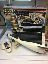 GI Joe ARAH Crusader Spaceship, Shuttle 99% Complete With Box Payload Jetpack