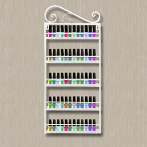 5 Tier Shop Home Nail Polish Display Shelf Wall Mounted Organizer Rack UK