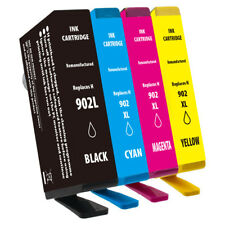 4 Pack For HP 902L 902XL BCMY Ink Cartridges OfficeJet 6950 6962 Pro 6960 6968