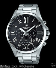 EFV-500D-1A Black Men's Watches Casio Edifice Chronograph 100m World time New