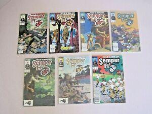 Marvel Comics Semper Fi #1, 2, 3, 4, 5, 6, 8 Lot of 7 (1988) FN Cond. (AA)