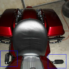 Chrome Foldable Motorcycle Passenger Foot Pegs Rest Pedal Pad For Harley Touring (Fits: Mastiff)