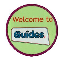 WELCOME TO GUIDES CLOTH BADGE OFFICIAL GUIDE UNIFORM NEW