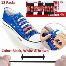 12 Pack Shoe Boot Laces Sport Trainers Football Hiking Unisex Shoelaces Boots