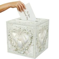 Box Card Wedding Holder Money Gift Reception Wishing Well Personal White 12 x 12
